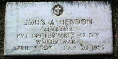 HENDON, JOHN A. - Yavapai County, Arizona | JOHN A. HENDON - Arizona Gravestone Photos