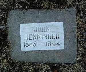 HENNINGER, JOHN - Yavapai County, Arizona | JOHN HENNINGER - Arizona Gravestone Photos