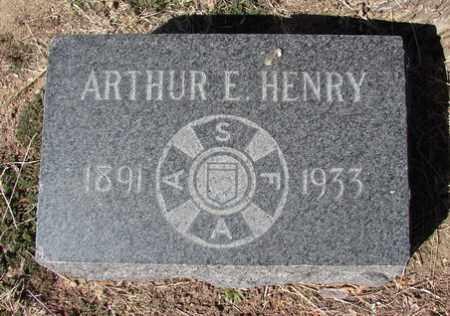HENRY, ARTHUR EDGAR - Yavapai County, Arizona | ARTHUR EDGAR HENRY - Arizona Gravestone Photos