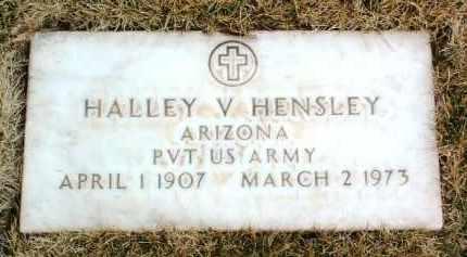 HENSLEY, HALLEY V. - Yavapai County, Arizona   HALLEY V. HENSLEY - Arizona Gravestone Photos