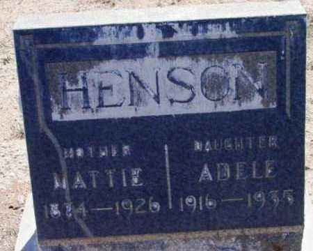 HENSON, MARTHA A. (MATTIE) - Yavapai County, Arizona | MARTHA A. (MATTIE) HENSON - Arizona Gravestone Photos