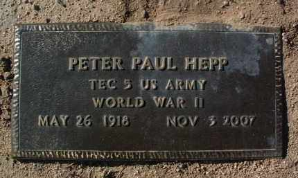 HEPP, PETER PAUL - Yavapai County, Arizona | PETER PAUL HEPP - Arizona Gravestone Photos
