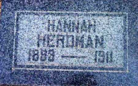 HERDMAN, HANNAH - Yavapai County, Arizona | HANNAH HERDMAN - Arizona Gravestone Photos