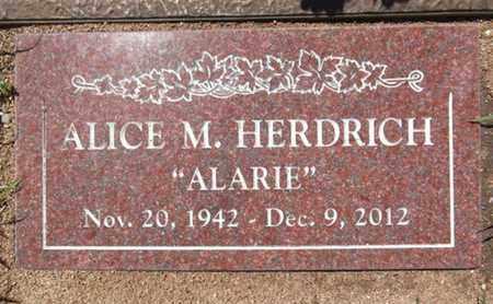HERDRICH, ALICE M. (ALARIE) - Yavapai County, Arizona | ALICE M. (ALARIE) HERDRICH - Arizona Gravestone Photos