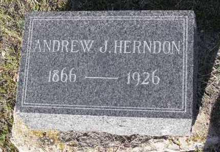 HERNDON, ANDREW J. - Yavapai County, Arizona | ANDREW J. HERNDON - Arizona Gravestone Photos