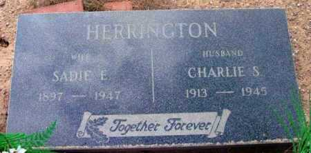 HERRINGTON, CHARLIE S. - Yavapai County, Arizona | CHARLIE S. HERRINGTON - Arizona Gravestone Photos