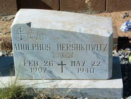HERSHKOWITZ, ADOLPHUS - Yavapai County, Arizona   ADOLPHUS HERSHKOWITZ - Arizona Gravestone Photos