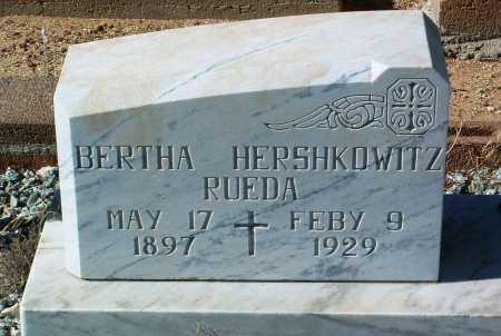 HERSHKOWITZ RUEDA, B. - Yavapai County, Arizona   B. HERSHKOWITZ RUEDA - Arizona Gravestone Photos
