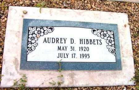 HIBBETS, AUDREY D. - Yavapai County, Arizona | AUDREY D. HIBBETS - Arizona Gravestone Photos