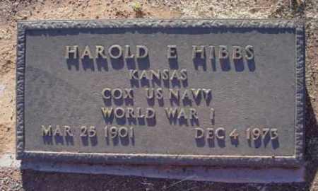 HIBBS, HAROLD E. - Yavapai County, Arizona   HAROLD E. HIBBS - Arizona Gravestone Photos