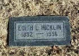 HICKLIN, EDITH LILLIAN - Yavapai County, Arizona | EDITH LILLIAN HICKLIN - Arizona Gravestone Photos