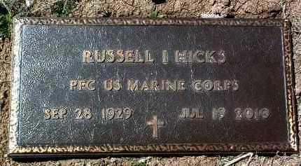 HICKS, RUSSELL I. (RUSS) - Yavapai County, Arizona | RUSSELL I. (RUSS) HICKS - Arizona Gravestone Photos