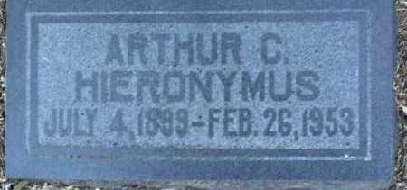 HIERONYMUS, ARTHUR CLINTON - Yavapai County, Arizona   ARTHUR CLINTON HIERONYMUS - Arizona Gravestone Photos