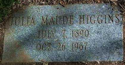 HIGGINS, JULIA MAUDE - Yavapai County, Arizona   JULIA MAUDE HIGGINS - Arizona Gravestone Photos