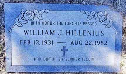 HILLENIUS, WILLIAM JOHN - Yavapai County, Arizona | WILLIAM JOHN HILLENIUS - Arizona Gravestone Photos
