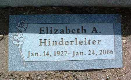 HOLDRIDGE HINDERLEITER, ELIZABETH ANN (BETTY) - Yavapai County, Arizona | ELIZABETH ANN (BETTY) HOLDRIDGE HINDERLEITER - Arizona Gravestone Photos