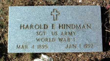 HINDMAN, HAROLD P. - Yavapai County, Arizona   HAROLD P. HINDMAN - Arizona Gravestone Photos