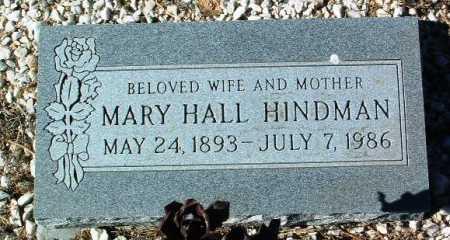 HALL HINDMAN, MARY - Yavapai County, Arizona | MARY HALL HINDMAN - Arizona Gravestone Photos