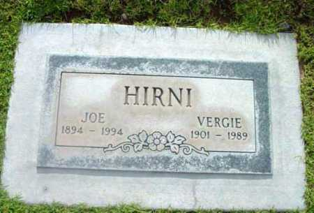 HIRNI, VERGIE - Yavapai County, Arizona | VERGIE HIRNI - Arizona Gravestone Photos