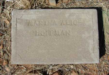 HOFFMAN, MARTHA ALICE - Yavapai County, Arizona | MARTHA ALICE HOFFMAN - Arizona Gravestone Photos