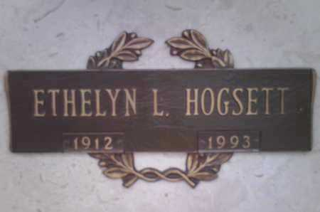 HOGSETT, ETHELYN  L. - Yavapai County, Arizona | ETHELYN  L. HOGSETT - Arizona Gravestone Photos