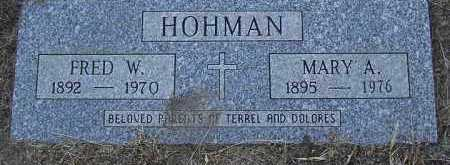 HOHMAN, FRED W. - Yavapai County, Arizona | FRED W. HOHMAN - Arizona Gravestone Photos