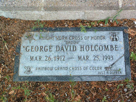 HOLCOMBE, GEORGE DAVID - Yavapai County, Arizona | GEORGE DAVID HOLCOMBE - Arizona Gravestone Photos