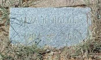 HOLDER, ALVA H. - Yavapai County, Arizona   ALVA H. HOLDER - Arizona Gravestone Photos