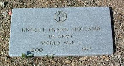 HOLLAND, JINNETT FRANK - Yavapai County, Arizona | JINNETT FRANK HOLLAND - Arizona Gravestone Photos