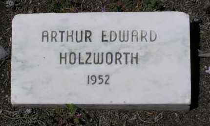 HOLZWORTH, ARTHUR EDWARD - Yavapai County, Arizona   ARTHUR EDWARD HOLZWORTH - Arizona Gravestone Photos