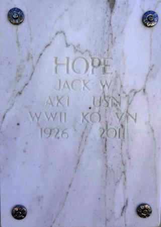 HOPE, JACK WILLIAM - Yavapai County, Arizona   JACK WILLIAM HOPE - Arizona Gravestone Photos