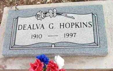 HOPKINS, DEALVA G. - Yavapai County, Arizona | DEALVA G. HOPKINS - Arizona Gravestone Photos