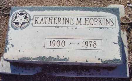 HOPKINS, KATHERINE M. - Yavapai County, Arizona | KATHERINE M. HOPKINS - Arizona Gravestone Photos