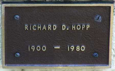 HOPP, RICHARD D. - Yavapai County, Arizona | RICHARD D. HOPP - Arizona Gravestone Photos