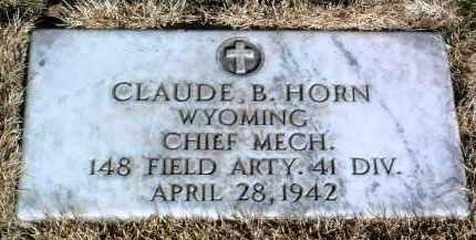 HORN, CLAUDE B. - Yavapai County, Arizona   CLAUDE B. HORN - Arizona Gravestone Photos
