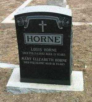 HORNE, LOUIS - Yavapai County, Arizona | LOUIS HORNE - Arizona Gravestone Photos