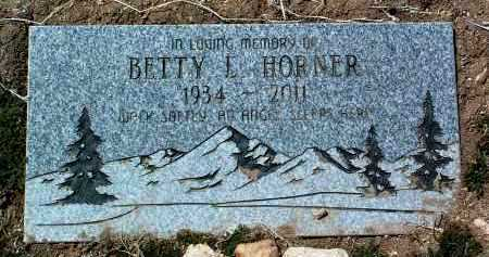 HORNER, BETTY L. - Yavapai County, Arizona | BETTY L. HORNER - Arizona Gravestone Photos