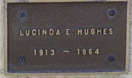 HUGHES, LUCINDA E - Yavapai County, Arizona | LUCINDA E HUGHES - Arizona Gravestone Photos