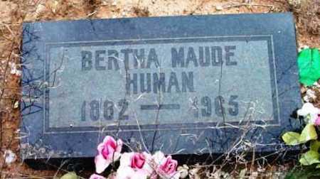 HINMAN HUMAN, BERTHA MAUDE - Yavapai County, Arizona | BERTHA MAUDE HINMAN HUMAN - Arizona Gravestone Photos