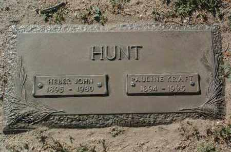 HUNT, HEBER JOHN - Yavapai County, Arizona | HEBER JOHN HUNT - Arizona Gravestone Photos