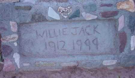 JACK, WILLIE - Yavapai County, Arizona   WILLIE JACK - Arizona Gravestone Photos