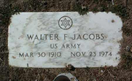JACOBS, WALTER F. - Yavapai County, Arizona   WALTER F. JACOBS - Arizona Gravestone Photos