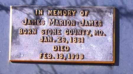 JAMES, JAMES MARION - Yavapai County, Arizona | JAMES MARION JAMES - Arizona Gravestone Photos