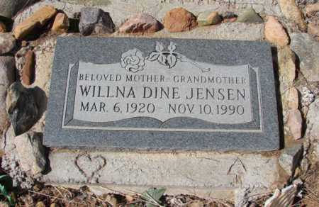 JENSEN, WILLNA / WILMA - Yavapai County, Arizona   WILLNA / WILMA JENSEN - Arizona Gravestone Photos