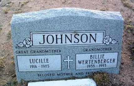 JOHNSON WERTENBERGER, BILLIE JEAN - Yavapai County, Arizona | BILLIE JEAN JOHNSON WERTENBERGER - Arizona Gravestone Photos