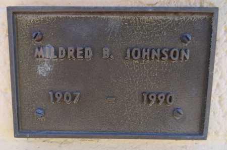 BLISS JOHNSON, MILDRED B - Yavapai County, Arizona   MILDRED B BLISS JOHNSON - Arizona Gravestone Photos