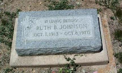 BLOOM JOHNSON, RUTH B. - Yavapai County, Arizona | RUTH B. BLOOM JOHNSON - Arizona Gravestone Photos
