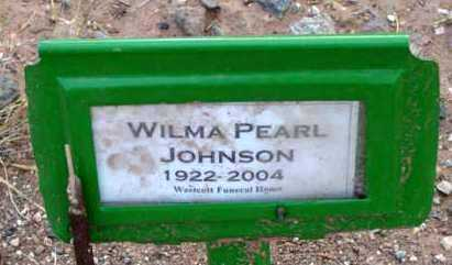 PHILLIPS JOHNSON, WILMA PEARL - Yavapai County, Arizona | WILMA PEARL PHILLIPS JOHNSON - Arizona Gravestone Photos