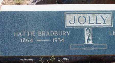 BRADBURY JOLLY, HARRIET (HATTIE) - Yavapai County, Arizona   HARRIET (HATTIE) BRADBURY JOLLY - Arizona Gravestone Photos