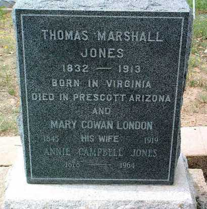 JONES, ANNIE CAMPBELL - Yavapai County, Arizona | ANNIE CAMPBELL JONES - Arizona Gravestone Photos